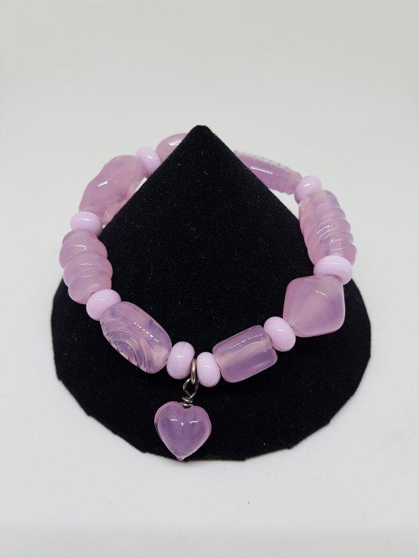 Armband rosa mit Herz